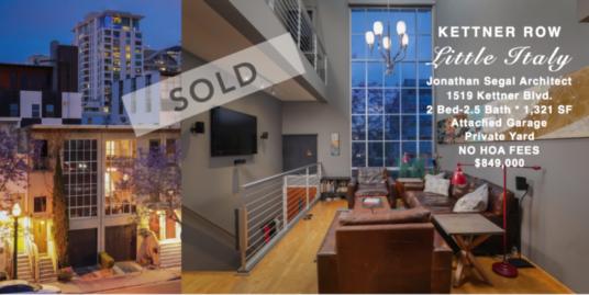 Kettner Row Sold